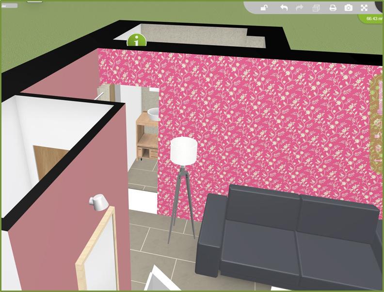 Plan 3D avec décoration
